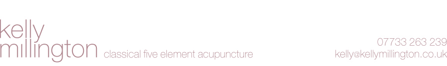 Kelly Millington - Classical five element acupuncture